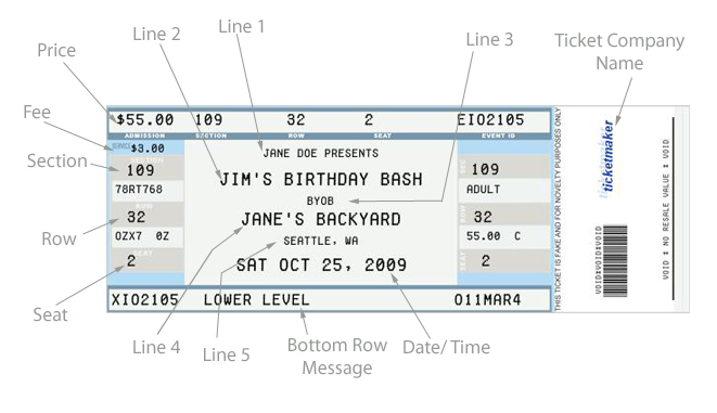 Giving someone a trip? Check out these fake plane ticket templates.
